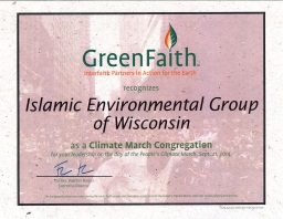 Green Faith Certificate