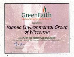 Green Faith Certificate